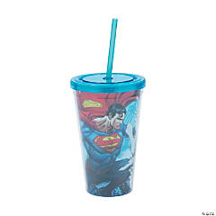 Superman v. Lex Luthor Tumbler with Lid & Straw
