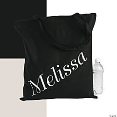 Personalized Extra Large Name Tote Bag
