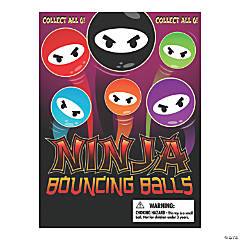 Bulk Vending Machine Display Cards Ninja Bouncing Balls