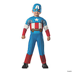 Toddler Deluxe Muscle Chest Captain America Costume