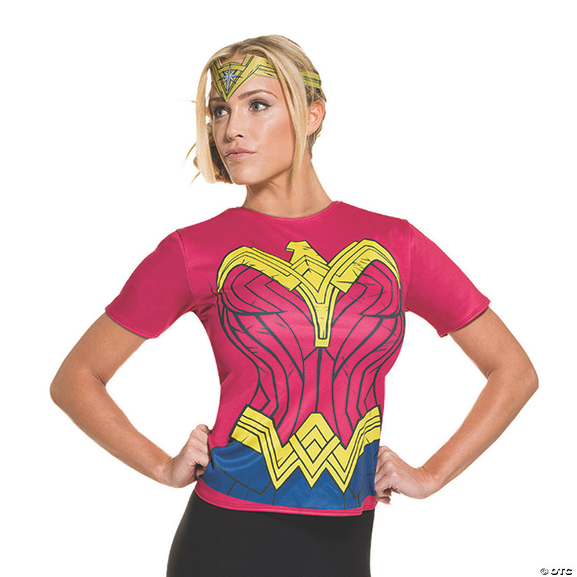 sc 1 st  Oriental Trading & Womenu0027s Batman v Superman: Dawn of Justice™ Wonder Woman Costume Top