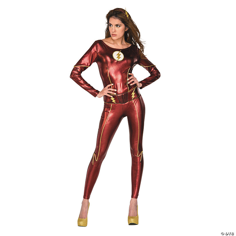 sc 1 st  Oriental Trading & Womenu0027s Superhero Style The CWu0027s The Flash™ Costume