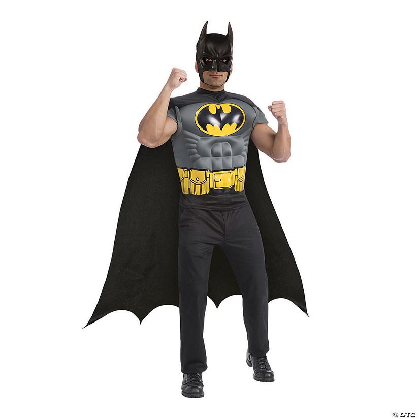 sc 1 st  Oriental Trading & Menu0027s Batman Muscle Chest T-Shirt Costume