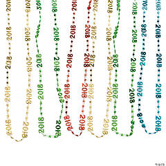 2018 Graduation Bright Bead Necklaces