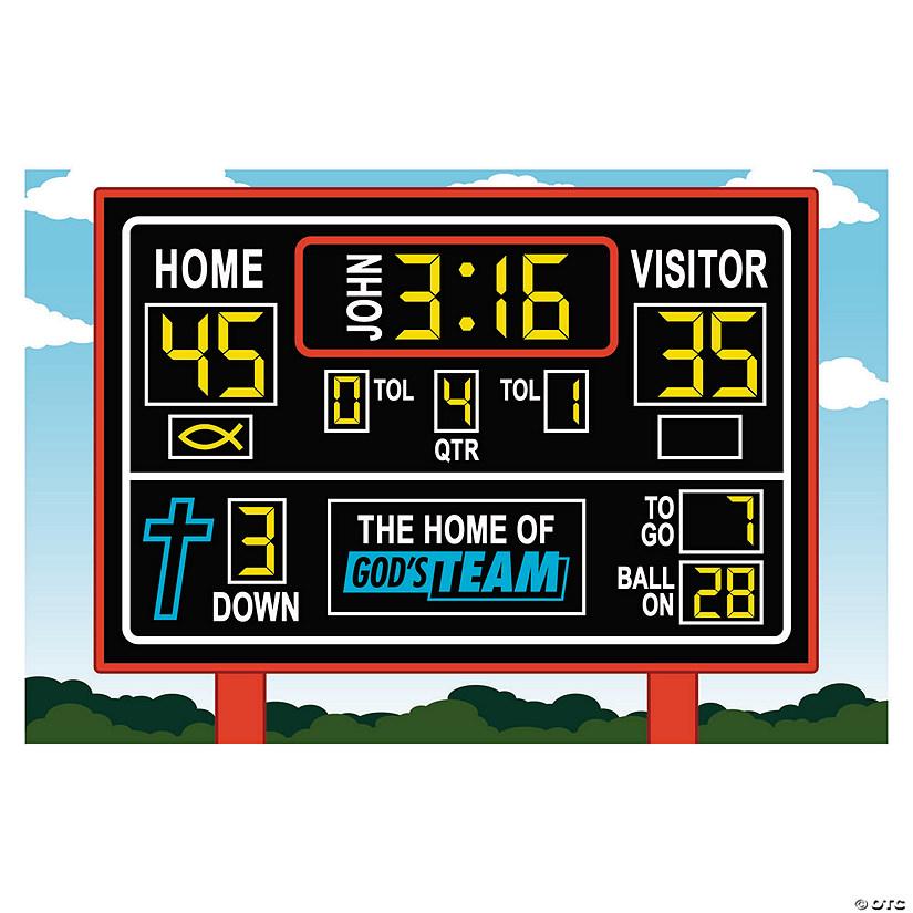 sports vbs religious scoreboard backdrop banner