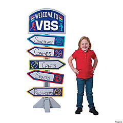Sports VBS Directional Sign Stand-Up