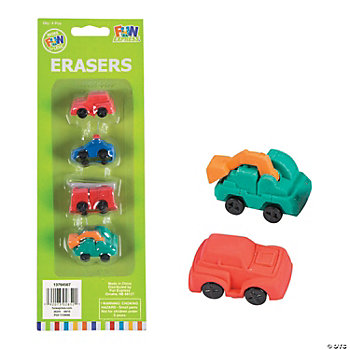 Fun Car Erasers