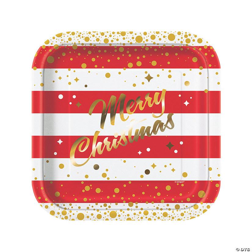 sc 1 st  Oriental Trading & Gold Sparkle Christmas Dinner Paper Plates