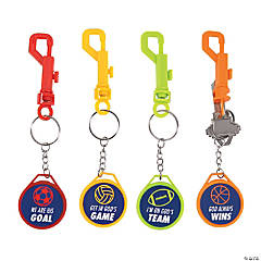 Sports VBS Backpack Clip Keychains