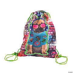 Rad Bulldog Drawstring Bag