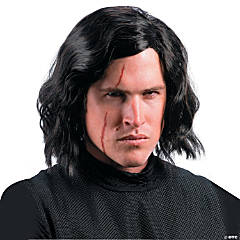 Adult's Star Wars™ Episode VIII: The Last Jedi Kylo Ren Wig with Scar Tattoo
