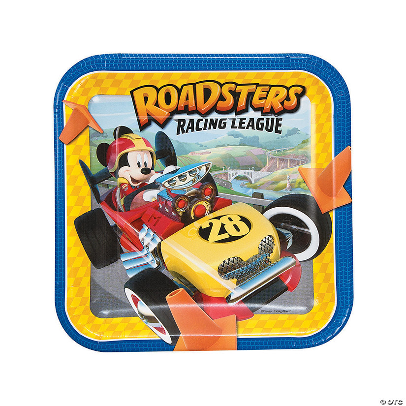 sc 1 st  Oriental Trading & Mickey u0026 the Roadster Racers Dinner Paper Plates