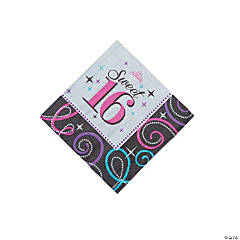Sweet 16 Celebration Beverage Napkins
