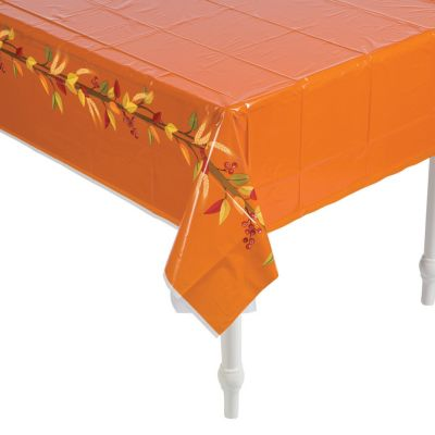 Quickview · Image Of Thankful Thanksgiving Plastic Tablecloth With  Sku:13810213