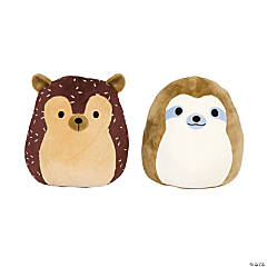 Squishmallows™ Plush Simon the Sloth & Hans the Hedgehog - Small