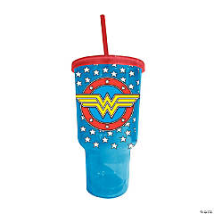 Jumbo Wonder Woman™ Cold Cup with Lid & Straw