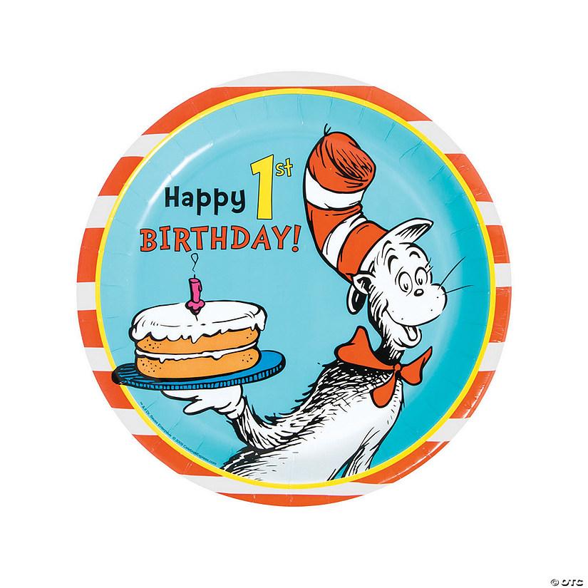 sc 1 st  Oriental Trading & Dr. Seuss™ 1st Birthday Paper Dinner Plates