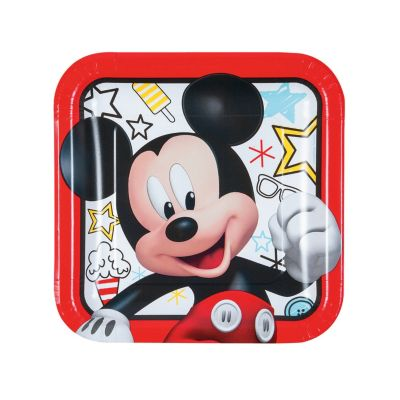 quickview · image of Disney\u003csup\u003e®\u003c\/sup\u003e Mickey on the Go Square  sc 1 st  Oriental Trading & Disney® Mickey\u0027s Fun To Be One Square Paper Dinner Plates