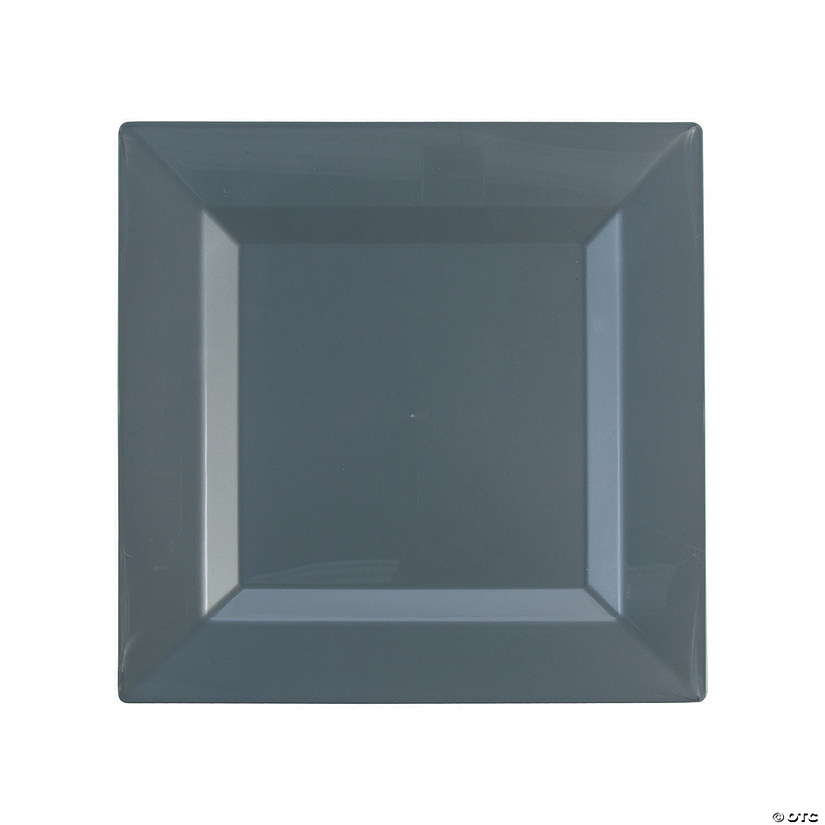 sc 1 st  Oriental Trading & Premium Plastic Square Silver Dinner Plates