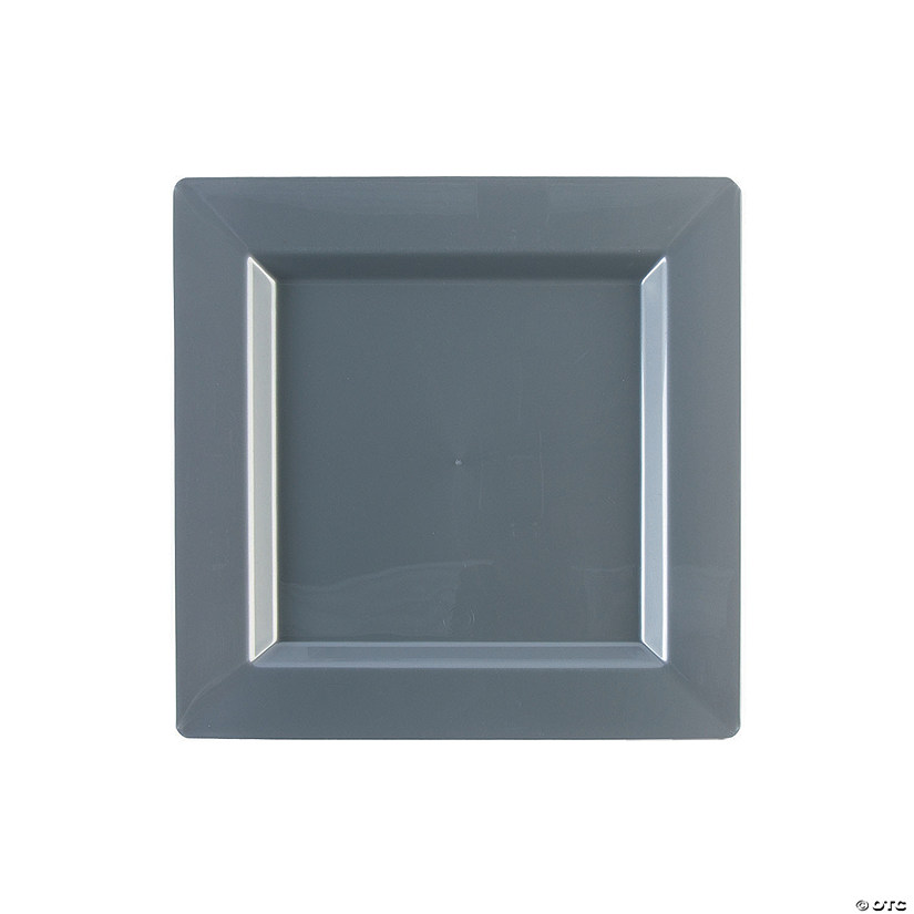 sc 1 st  Oriental Trading & Premium Plastic Silver Square Dessert Plates