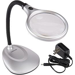 Carson Deskbrite 200 Illuminated Magnifier & Desk Lamp