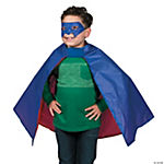 Blended Polyester Superhero Cape And Mask Set