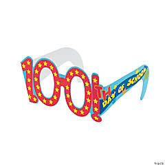 "12 ""100th Day Of School"" Cardboard Glasses"