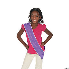 "Polyester ""Birthday Girl"" Sash"