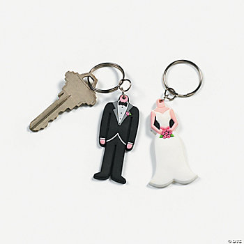 Bride & Groom Key Chains