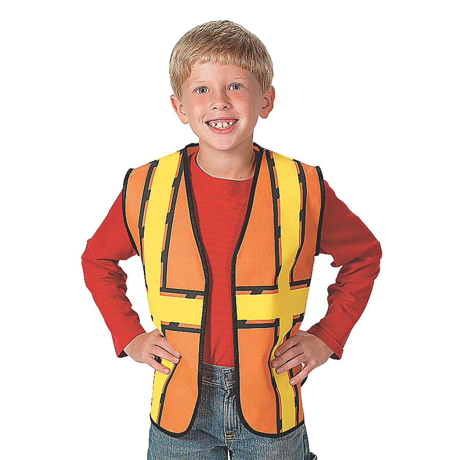 This Dress Up America Boys' Construction Worker Costume is ideal for little ones to wear for Halloween. It comes complete with a shirt, a vest and pants. The pretend play costume has an authentic design, and the vest comes in high-visibility orange with yellow and silver reflective stripes.3/5(1).