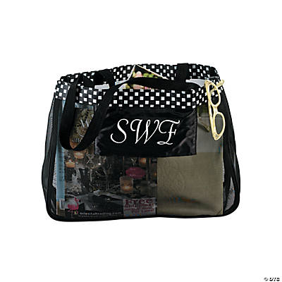 Personalized Black Wedding Tote