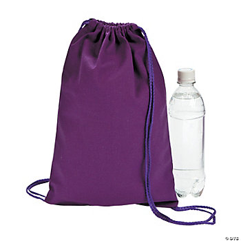 Purple Drawstring Backpacks