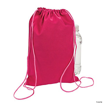 Dark Pink Drawstring Backpacks