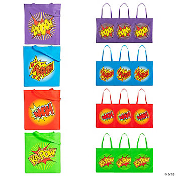 Nonwoven Polyester Large Superhero Tote Bags