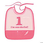 Girl's First Birthday Bib