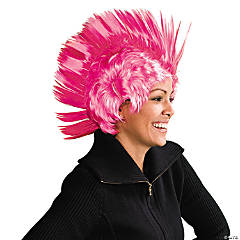 Synthetic Pink Ribbon Mohawk Wig