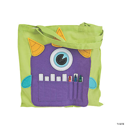 Monster Crayon Tote