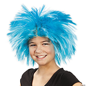 Spiky Blue Wig