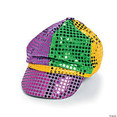 Polyester Mardi Gras Sequin Hat