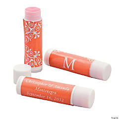 Personalized Orange Monogram Lip Covers