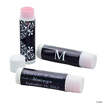 Personalized Black Monogram Lip Covers