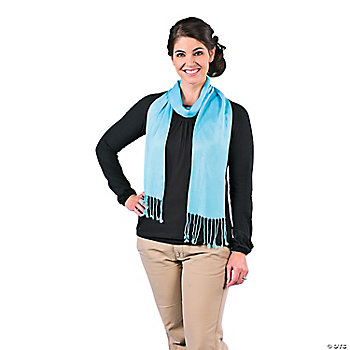 Light Blue Personalized Scarf