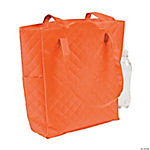 Personalized Orange Quilted Tote Bag