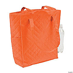 Monogrammed Orange Quilted Tote