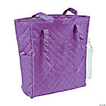 Monogrammed Purple Quilted Tote