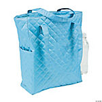 Personalized Light Blue Quilted Tote Bag