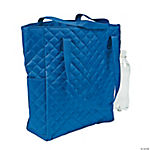 Blue Personalized Quilted Tote