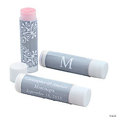 Personalized Silver Monogram Lip Covers