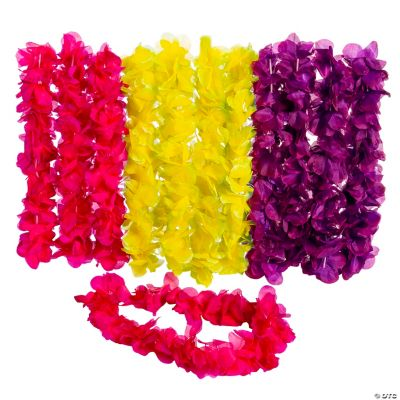 Large Two-Tone Floral Leis