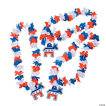 Democrat Flower Leis
